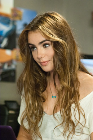 Lily Collins stars as Karen in the film. Lily and Taylor struck up a romance on the set and are still dating. - Bruce Talamon