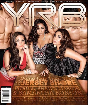 Sammi, Snooki, and Deena strike a pose on the latest issue of YRB magazine. - YRB