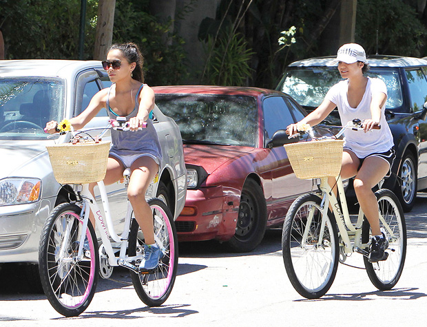 Vanessa Hudgens was snapped taking a spin with her little sis Stella on Tuesday. - Juan Sharma/Miguel Aguilar/PacificCoastNews.com