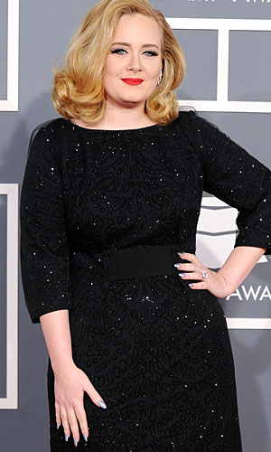 Adele at the Grammys February. (Jason Merritt/Getty Images)