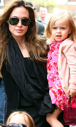 (Angelina and Vivienne. (Splash News)