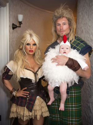 Jessica, Eric, and baby Maxwell get in the spirit of Halloween. (JessicaSimpson.com)