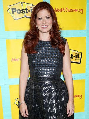 Debra Messing at the Post-it Your Words Stick With Them launch on August 22