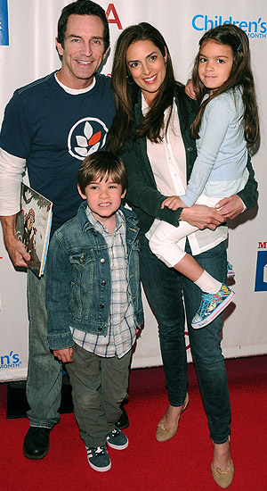 Probst, Russell, and children Michael and Ava. (Jean Baptiste Lacroix/WireImage)