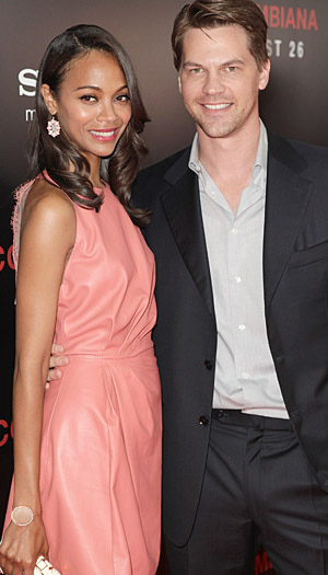 Saldana and her ex-fiance Britton (Todd Williamson/WireImage)
