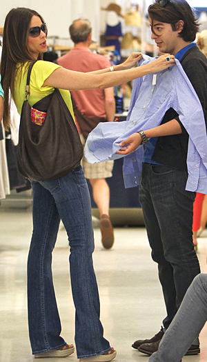 The actress helped him pick out clothes (Splash News)