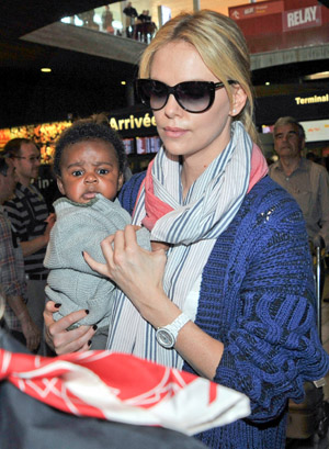 Theron with Jackson (INFphoto.com)