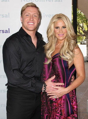 Kim Zolciak and Kroy Biermann in April (Getty Images)
