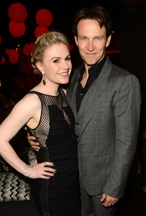 Parents-to-be Paquin and Moyer (Jason Merritt/Getty Images)