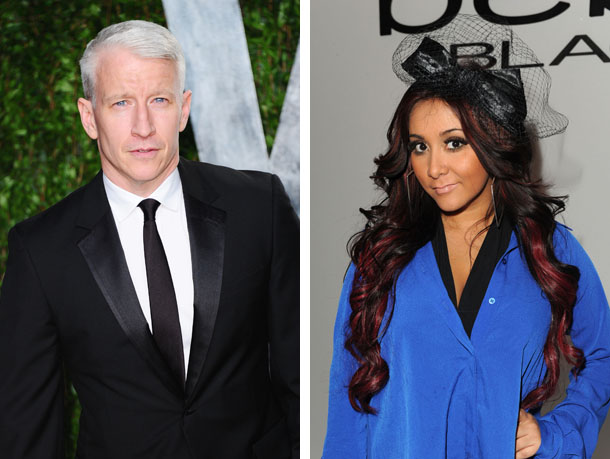 Anderson Cooper and his friend Snooki (Getty Images)