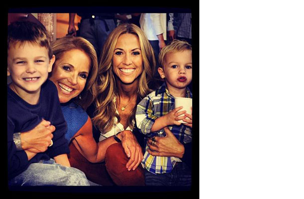 Sheryl Crow and her boys with Katie Couric (twitter.com/katiecouric)