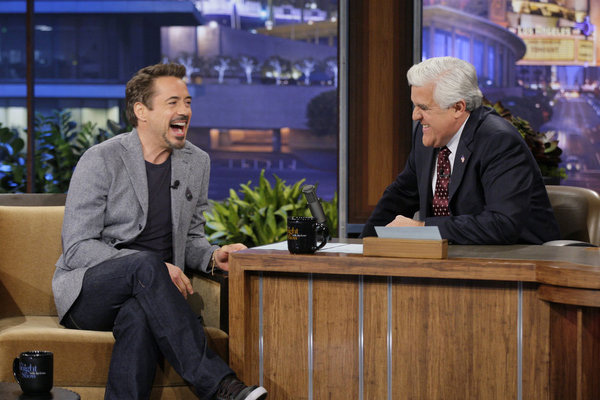 Downey on Leno (Paul Drinkwater/NBC)