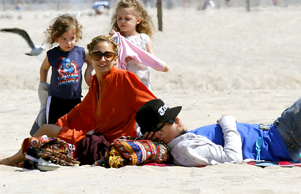 The Madden family at the beach in Malibu (Survivor/PacificCoastNews.com)