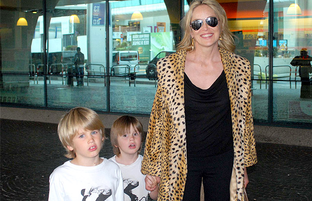 Sharon Stone and sons Laird and Quinn (Olycom/X17online.com)