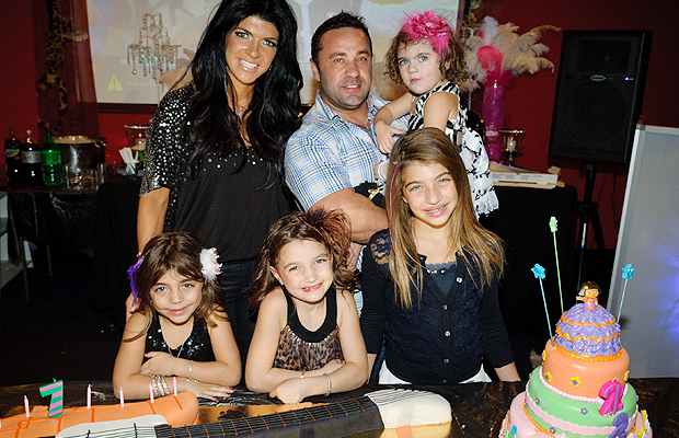 Teresa Giudice poses with her beautiful family. (WireImage)