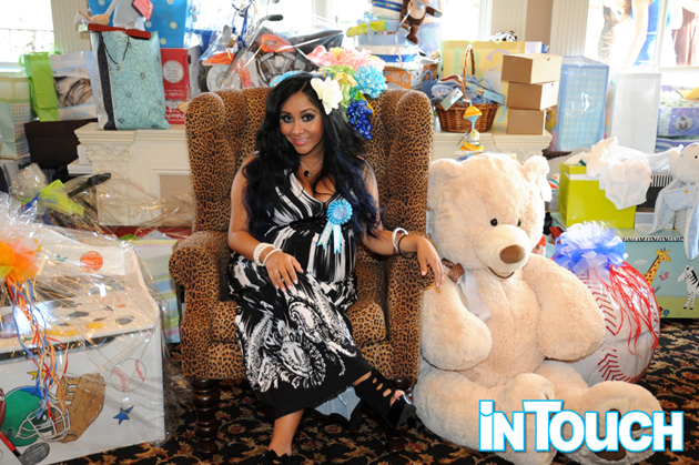 Snooki at her baby shower (Michael Todd/In Touch magazine)