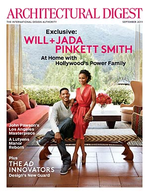 Will and Jada Pinkett Smith take Architectural Digest on a tour of their Calabasas, California home. - Art Streiber/Architectural Digest