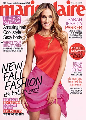 Actress Sarah Jessica Parker covers the new Marie Claire . - Tesh