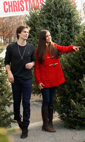 Nina Dobrev and Ian Somerhalder (Ben Rose/WireImage)