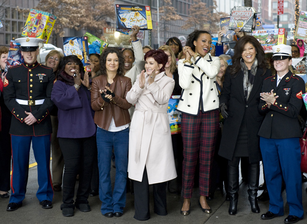 Chen and her 'The Talk' co-hosts taped their show in Manhattan this month. (CBS via Getty Images)