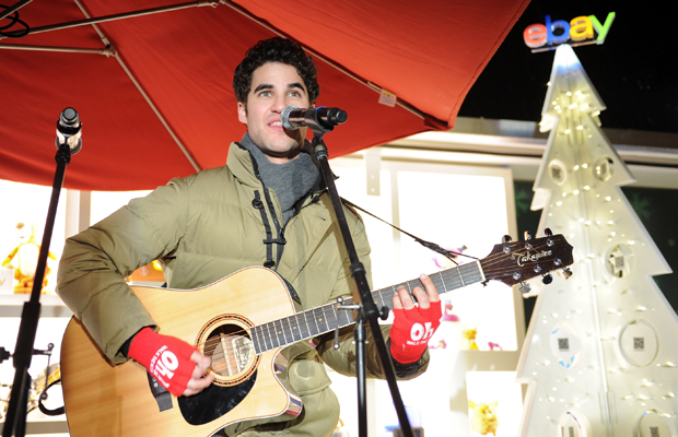 Darren Criss sings at a Toys for Tots benefit. (Craig Barritt/ Getty Images)