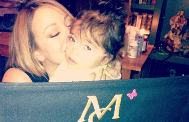Mariah Carey and her little mini-me, Monroe. (Instagram)