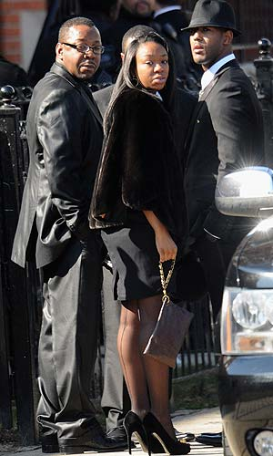 Bobby Brown arrives for Whitney's funeral. (Getty Images)