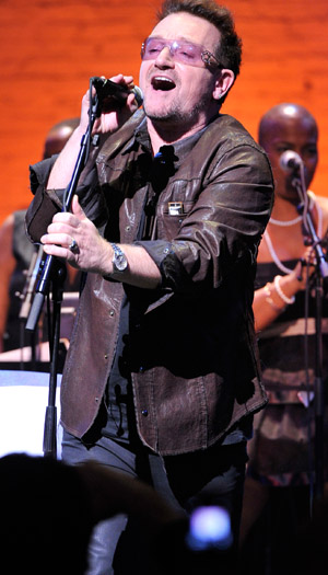 Bono can buy a lot of sunglasses with $1.5 billion. (Michael N. Todaro/FilmMagic)