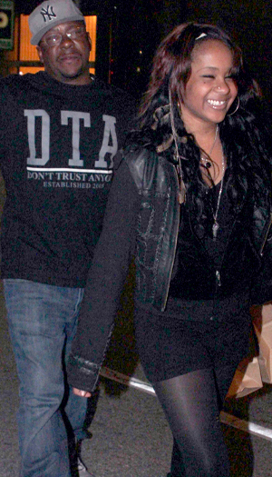 Brown with Bobbi Kristina in February (Perez/X17online.com)