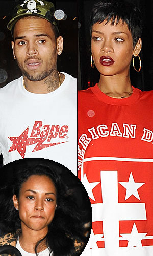 Brown, Rihanna, and Tran (PacificCoastNews.com)