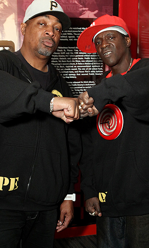 Chuck D and Flavor Flav of Public Enemy. Rebecca Sapp/WireImage
