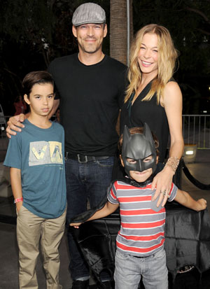Rimes with Cibrian and his sons (WireImage)