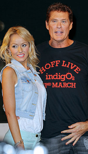 Hasselhoff and his girlfirend Hayley Roberts. (AWAIS; PacificCoastNews.com)