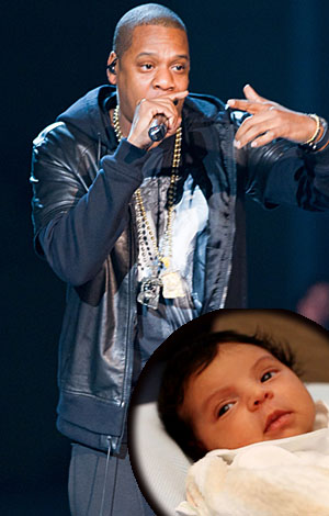 Jay-Z and Blue. (Tumblr (inset)/Getty Images)