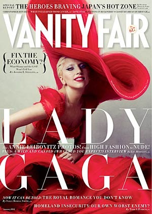Lady Gaga graces another cover. Annie Leibowitz/Vanity Fair