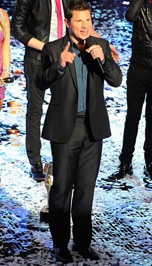 "Lachey hosts ""The Sing-Off."" Lewis Jacobs/NBC"