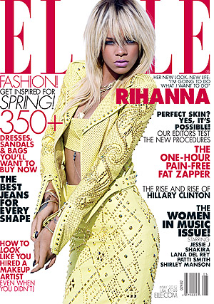 Rihanna covers Elle. (Tom Munro/ELLE)