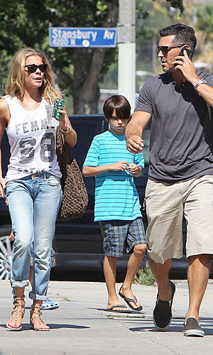 Rimes and Cibrian out with his sons on Aug. 1 (PacificCoastNews.com)