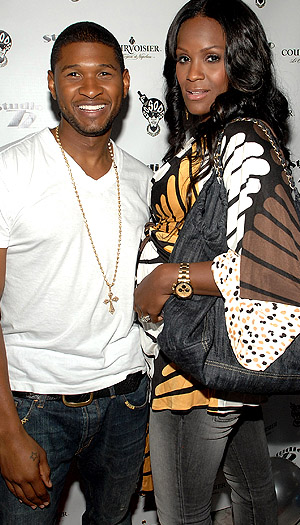 Usher and Tameka. (Rick Diamond/WireImage)