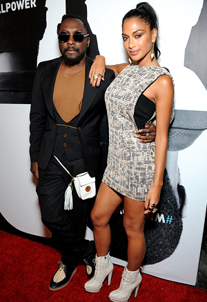 will.i.am and Nicole Scherzinger (Amanda Edwards/Wireimage)