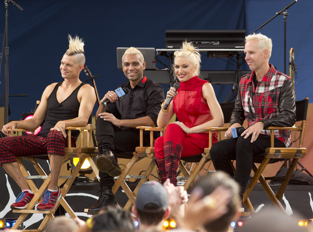 No Doubt on GMA: Adrian Young, Tony Kanal, Stefani, and Tom Dumont (Splash News)