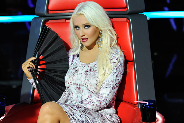 Aguilera acting like a diva on The Voice. (Lewis Jacobs/NBC)