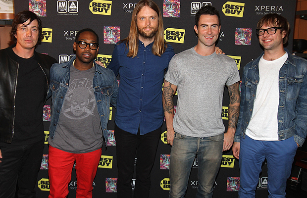 Maroon 5 get ready to face their fans in NYC. (Jerritt Clark/WireImage)