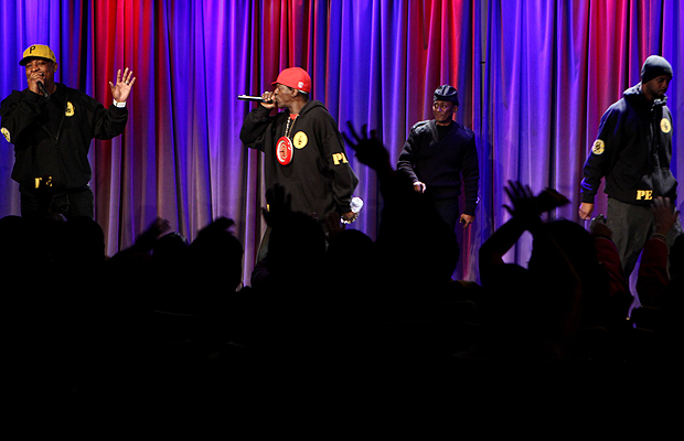 Public Enemy onstage. Rebecca Sapp/WireImage