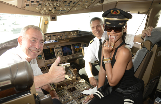 Captain Rihanna at your service. (Kevin Mazur/WireImage)
