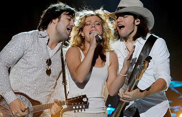 The Band Perry: Neil, Kimberly, and Reid. (Rick Diamond/Getty Images for CMT)