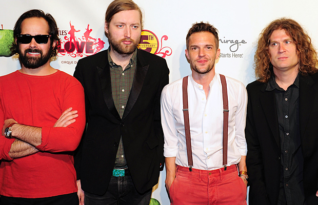 The Killers: Ronnie Vannucci, Mark Stoermer, Flowers, and Dave Keuning. (Steven Lawton/FilmMagic)