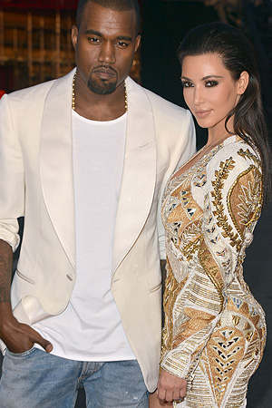 Kanye and his perfect Kim. (Mike Marsland/WireImage)