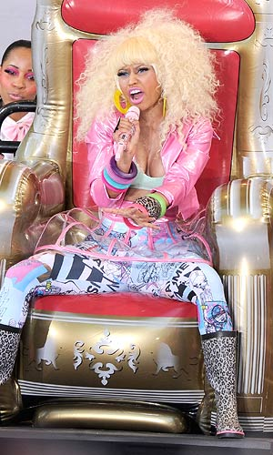 "In addition to ""Where Them Girls At,"" Nicki also performed ""Moment 4 Life"" and ""Super Bass."" - Jamie McCarthy/WireImage.com"