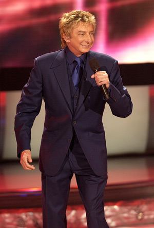 """They all have something and they're all very ambitious,"" Manilow says of the ""American Idol"" finalists he's worked with. - Ray Mickshaw/WireImage.com"